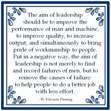 aim leadership failure less effort edwards deming