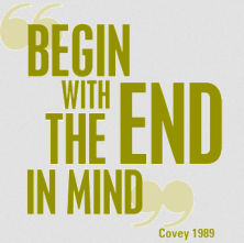 begin with the end in mind covey