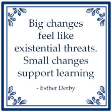 big changes feel like existential threats small changes support learning esther derby