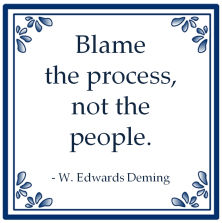 blame process people willam edwards deming