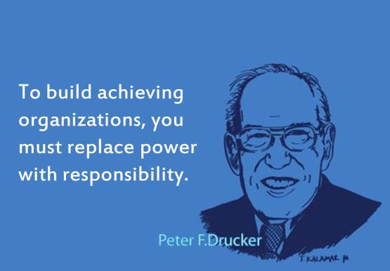 build achieving organizations peter drucker