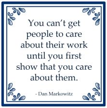 care about work show them dan markowitz