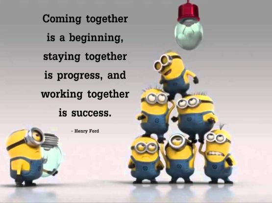 Citaten Werkplezier : Teamwork volgens de minions