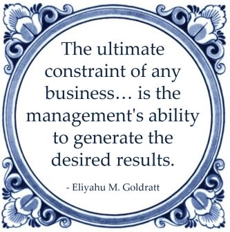 constraint business eliyahu goldratt management ability desired results