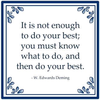 doing your best deming