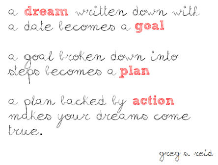 dreams goal plan action