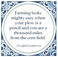 gemba dwight eisenhower farming mighty easy