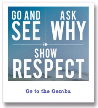 go gemba see ask why show respect lean