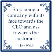 jack welch face towards ceo ass customer