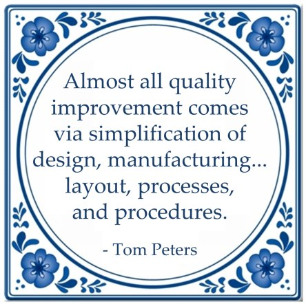 kwaliteit almost all quality improvements quote tom peters