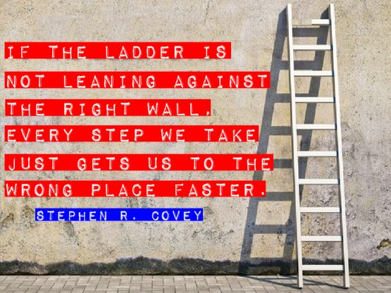 ladder against wall stephen covey faster