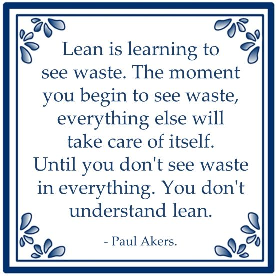 lean learning see waste paul aker