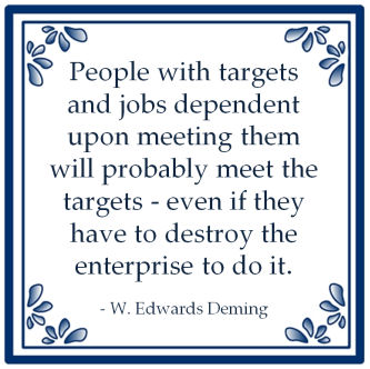 people targets meeting destroy enterprise edwards deming