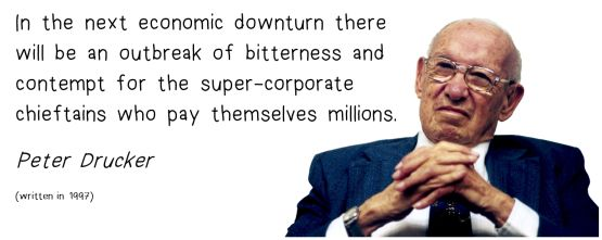 peter drucker super-corporate chieftains quote