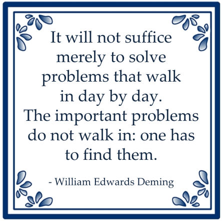 problem solving problemen oplossen william edwards deming
