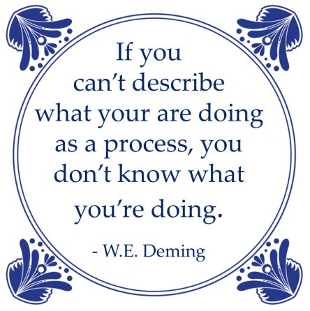process describe william edwards deming lean
