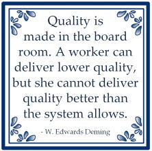 quality board room edwards deming lean