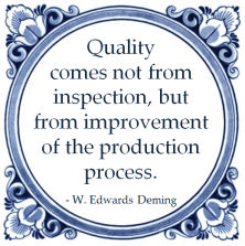 quality kwaliteit inspection improvement production process william edwards deming lean