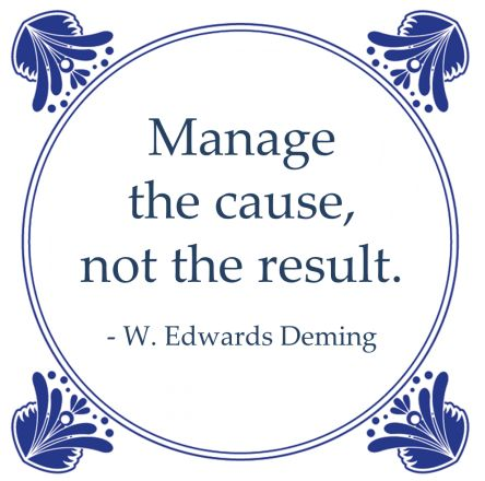 root cause analyse deming manage cause results