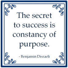 secret success consistency of purpose