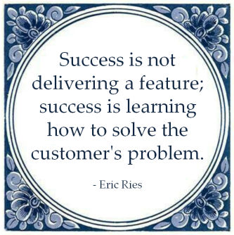 success eric ries solve customer problem