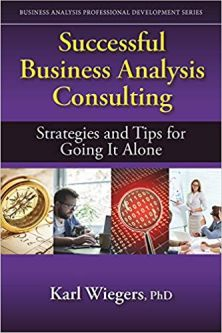successfull business analysis consulting karl wiegers