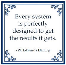 systeem ontwerp system perfectly designed results gets edwards deming