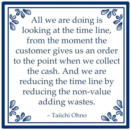 taiichi ohno lean reducing waste