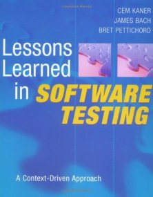 testen lessons learned in software testing james bach