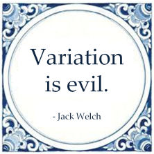 variation is evil jack welch six sigma