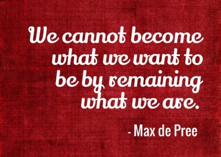want to be remaining what we are max pree