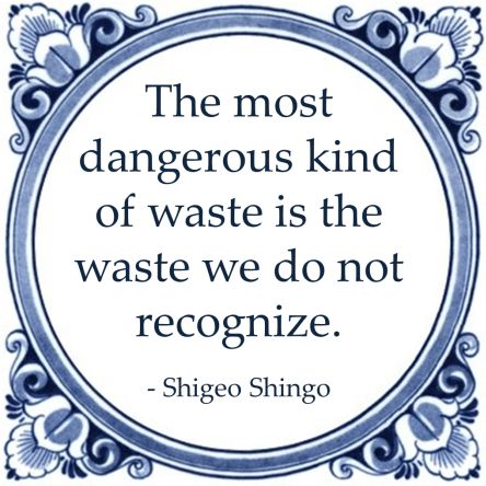 `waste  recognize shigeo shingo