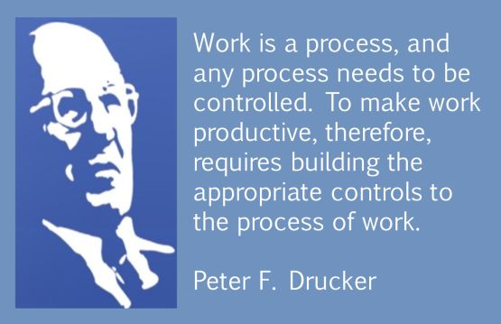 work process peter drucker